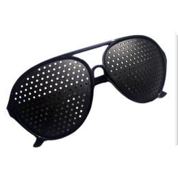 a62cf58e51 EyE vision online shopping - Black Unisex Vision Care Pin hole Eyeglasses  pinhole Glasses Eye Exercise