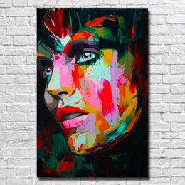 $enCountryForm.capitalKeyWord NZ - Hand Painted Modern Knife Women Face Painting Home Decoration Wall Art Painting on Canvas No Framed