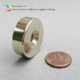Rare Earth Neodymium Magnet Countersunk Hole Australia - 20pcs Countersunk Hole Magnet about Diameter 30X10mm Thick M5 Screw Countersunk Hole Neodymium Rare Earth Permanent Magnet