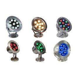 Use Pool Canada - LED Underwater Light IP68 DC12 24V Input RGB Blue Green Yellow Red White Color Available for Swimming Pool Fountain Aquarium Use