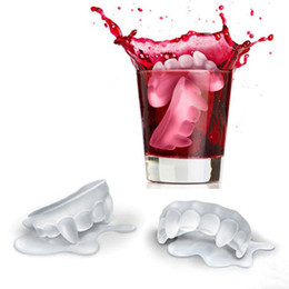 cool ice trays UK - Ice Cold Twilight Vampire Fangs Ice Cube Silicone Ice Tray DIY Jelly Mold Chocolat Mould Cool Bar Party Gadgets