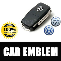 Vw Car Emblems Canada - 14mm Car Remote Key Emblem Sticker VW Volkswagen LOGO Stickers car logo emblem