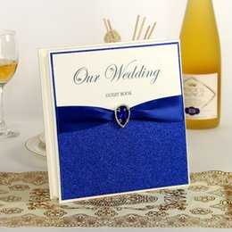 Wholesale Blue Wedding Guest Book Wedding Favors Wedding Supply Signature Book