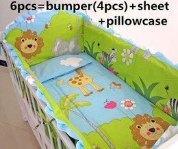 $enCountryForm.capitalKeyWord Canada - Promotion! 6PCS Crib Bedding Set Soft Baby Sheet Bumpers,Comfortable Baby Bedding Set ,include(bumpers+sheet+pillow cover)