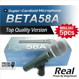 $enCountryForm.capitalKeyWord Canada - microfono 5pcs Top Quality Version Beta 58 a Vocal Karaoke Handheld Dynamic Wired Microphone BETA58 Microfone Beta 58 A Mic free mikrafon