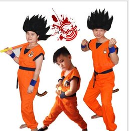 Costumes De Cosplay Pour Garçons Pas Cher-Costumes d'Halloween Décoration Party Masquerade Dragonball Sun Wukong Boy Vêtements pour enfants Kd Turtler Cosplay Anime Voir Performance Props
