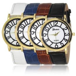$enCountryForm.capitalKeyWord Canada - Retro Man Busines Watch Band Leather Round Dial Digital Watch for Mens Roman Casual Loves Man Sport Watch