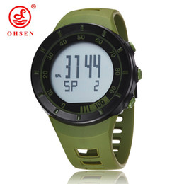 Green Plastic Army Men Canada - New in 2017 wholesale OHSEN electronic Led diving sport watch men male green army cool wristwatches relojoes hombre Man Horloge gift