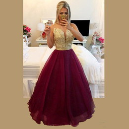 $enCountryForm.capitalKeyWord NZ - Hot Sale Gorgeous Sexy See Through Backlass Burgundry Organza Long Prom Dresses Vestido De Festa Cheap Evening Gowns Free Shipping