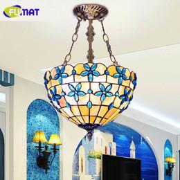 FUMAT 12 14 16 Inch Natural Shell Pendant Light Dinner Room Living Restaurant Lamp Balcony Kitchen Lilac Lamps