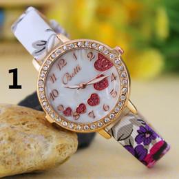 Thin Belt Watches Canada - Hot New Wholesale Love-shaped diamond ladies woman girl quartz watch thin belt fashion watches Fashion Women Watch