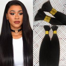 18 Inch Human Hair For NZ - Brazilian Silky Straight Human Hair Bulk for Braiding 8-28 inch Natural Color Bulk Hair No Weft FDSHINE