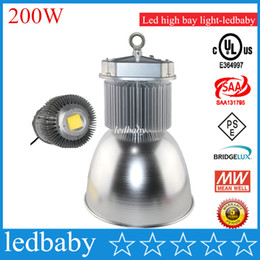 bridgelux led lighting NZ - Bridgelux Meanwell 200W Led High Bay Light energy saving light bulbs For 10M Height Ceiling Warehouse Factory Free shipping fedex dhl