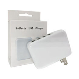 Discount foldable charger 3.1A 4 Port USB Wall Charger 15W Portable Travel Charger Power Adapter with Foldable Plug for Samsung S8 Note 8 Smartphone