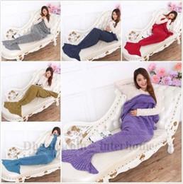 $enCountryForm.capitalKeyWord Canada - Mermaid Blankets Knit Mermaid Tail Blankets Mermaid Cocoon Costume Shark Tail Blanket Bedding Wrap Sleeping Bags Air-Condition Blankets 1295