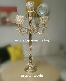 wholesale candelabras for weddings Canada - wedding Crystal candelabra centerpieces , crystal candelabra for wedding decorations,walk way stand decorations