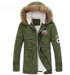 longest yard 2019 - New arrival men's thick warm winter down coat fur collar army green men parka big yards long cotton coat jacket par