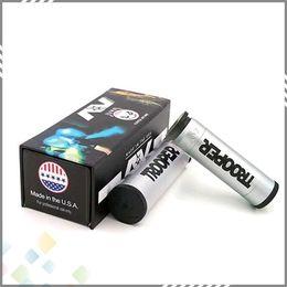 Clones eleCtroniCs online shopping - Vaporizer Able Trooper Mod AV style Mech Electronic Cigarette Clone fit Battery Mechanical Mod Brass material DHL Free