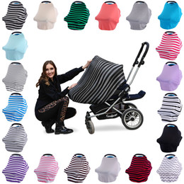 $enCountryForm.capitalKeyWord Canada - 2017 New Multi-Use Stretchy Cotton Baby Nursing Breastfeeding Privacy Cover Scarf Blanket Solid Infinity Scarf Baby Car Seat Cover DHL Free