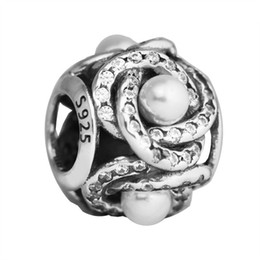$enCountryForm.capitalKeyWord Australia - Mothers Day Luminous Love Knot Charms Bead 925 Sterling Silver Freshwater Pearl Crystal Bead For DIY Bracelets Making Accessories
