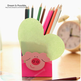 $enCountryForm.capitalKeyWord Canada - Wholesale-Cute Fashion Wooden Pen Holder Pencil Container Stationery Organizer Pen Office School Supplies Korea Stationery Study Storage