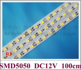 White Bright Lighting Canada - LED rigid strip light LED light bar cabinet light 100cm 72 led SMD5050 DC12V 17W CE ROHS high bright white   warm white