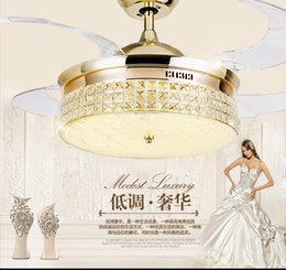 Lights & Lighting 42 Inch Modern Invisible Fan Lights Acrylic Leaf Led Ceiling Fans 110v-220v Wireless Remote Control Ceiling Fan Light 42-yx0098 Spare No Cost At Any Cost