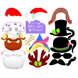 photo booth props signs 2020 - 17pcs Christmas Party Photo Booth Props Creative Happy Christmas Pose Sign Kit for Party Wedding Decoration