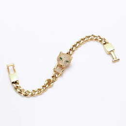 Wholesale or drill a leopard head bracelet with ms han edition k rose gold with diamonds Leopard bracelet