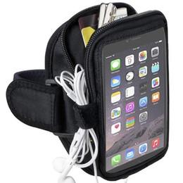 Calidad Multifunción Running Sports Brazalete Zipper Bag Holder para iPhone 6 6S 7 Plus Samsung Galaxy Note 5 4 S6