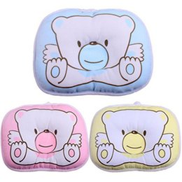 Chinese  2016 Hot Sale 1 PCS Newborn Infant Soft Neck Support Print Bear Head Shape Baby Shaping Pillow manufacturers