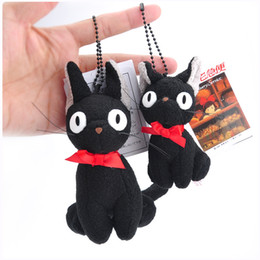 $enCountryForm.capitalKeyWord NZ - NEW Kiki's Delivery Service Black Cat Keychain Pendant Plush Doll Stuffed Animals Toy For Baby Gifts (5pcs Lot - Size : 15CM)