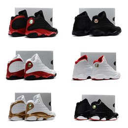 Chinese  Infant Black Boy & girl 13s Bred History of Flight Kids basketball shoes HOF children athletic sports boy girl sneakers size 28-35 manufacturers