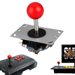 wireless arcade controller 2019 - Wholesale- Arcade joystick DIY Joystick Red Ball 4 8 Way Joystick Fighting Stick Parts for Game Arcade cheap wireless ar