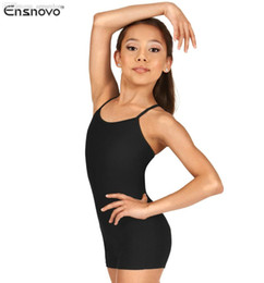 Zentai Unitard Xxl Baratos-Wholesale-Ensnovo Mujeres Confort Lycra Spandex Correas Cross Back Shorty Unitard Entrenamiento Fitness Ginástica Y-Back Camisole Biketard