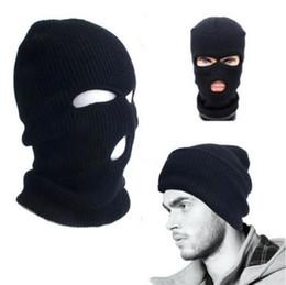 Winter Full Face Cover Knitted Beanies Windproof Anti Dust Ski Mask Warm Balaclava Hood Multi-function Skullies Neck Cap Men's Hats Men's Skullies & Beanies