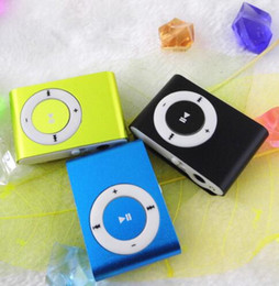 $enCountryForm.capitalKeyWord Canada - Colorful MINI Clip MP3 Player Music walkman Small clips Support Micro SD Card TF Slot Earphone USB Cable with Gift box Freeshiping