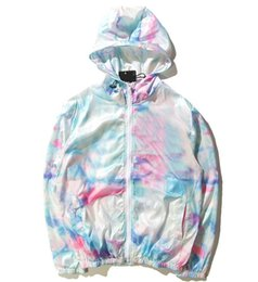Опт Импортированные-одежда Мужская куртка ST World Tour краска красочные всплеск чернил куртка для девочек солнцезащитный крем цвет градиента куртка 101725