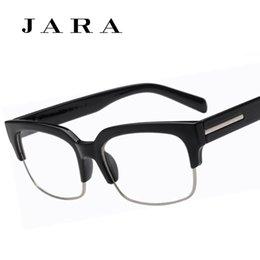 wholesale jara wide leg half frame eye glasses for men women same paragraph retro brand eyeglasses oculos de grau - Wide Eyeglass Frames