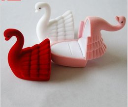 $enCountryForm.capitalKeyWord NZ - 10pcs lot Size 64*58*44mm Boutique Cartoon Little Swan Pile Coating Jewelry Jewellry Rings Necklace Package Packaging Packing Box Case