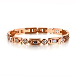 "$enCountryForm.capitalKeyWord NZ - Newest Friendship Bracelets Jewelry Magnet Bracelet Health Care Elements Rose Gold Bracelet Chain For Men Or Women 8.5"" OSB-1234"