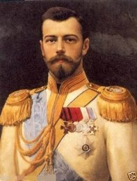 $enCountryForm.capitalKeyWord Canada - Framed GENERAL PORTRAIT TSAR NICHOLAS II,Pure Handpainted Abstract Art Oil Painting On High Quality Canvas Multi Sizes