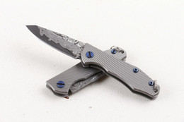 $enCountryForm.capitalKeyWord UK - 2017 New Mini Small Folding Knife Keychain Knives VG10 Damascus Steel Blade TC4 Titanium Handle EDC Pocket Knives Frame Lock