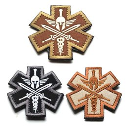 $enCountryForm.capitalKeyWord Canada - 2.36 inch Spartacus Medical Treatment Logo Embroidered Patch with magic stick Rome Slave Jacket Fabric Badge Armband Tactical patches VP-13
