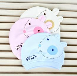 Newborn Animals Canada - New Infant Baby Hats Kids Cartoon Animal Cotton Newborn Hats Boys Girls Caps Hats Yellow Pink Blue 11471