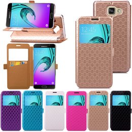 Iphone cases dIsplay online shopping - Fashion Caller Display Open Window Vertical Wallet Leather Purse For Iphone X Plus Galaxy S9 S8 Flip Card Slot Holder Cover Pouch Skin