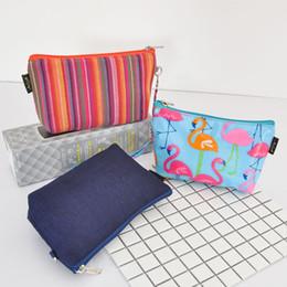 $enCountryForm.capitalKeyWord Australia - YKK Zip Makeup Cosmetic Case Bag Clutch For Lady Girl Travel Flamingo Bag Small Handbags Multi Color Toilet Bag Fashion Design Pouch Purse