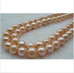 Chinese  AAA+ 11-12MM South Sea Pink Pearl Necklace 35 Inch 14k yellow gold clasp manufacturers