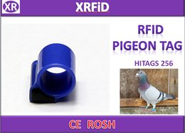 Pigeon Rings Canada - Version2 Hitags256 rfid pigeon ring tag Dia 134.2khz ABS pigeon tag blank format 500pcs lot Free Ship