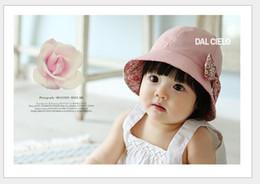 2018 New Arrival Summer Children Sun Hat Girl Princess Cap Baby Basin Caps  Kids Lace Flower Fisherman Hats 10pcs lot a3069bb0871c